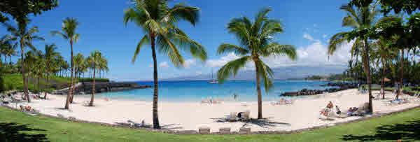 Beach club at Mauna Lani