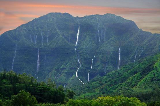 Hanalei Waterfalls