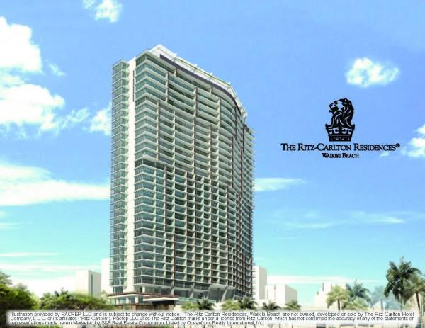 The Residences at the Ritz-Carlton Waikiki Rendering