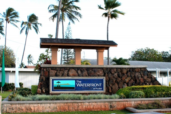 waterfront sign