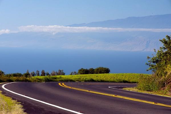 Maui viewed from Big Island Hawaii