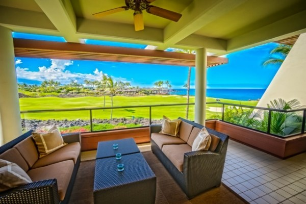 Lowest priced ocean view Mauna Lani Point F205