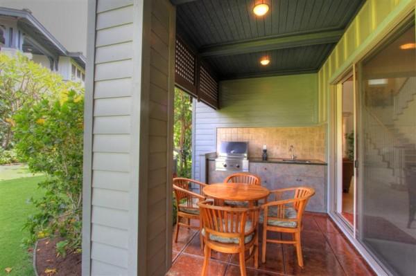 Outdoor kitchen and lanai
