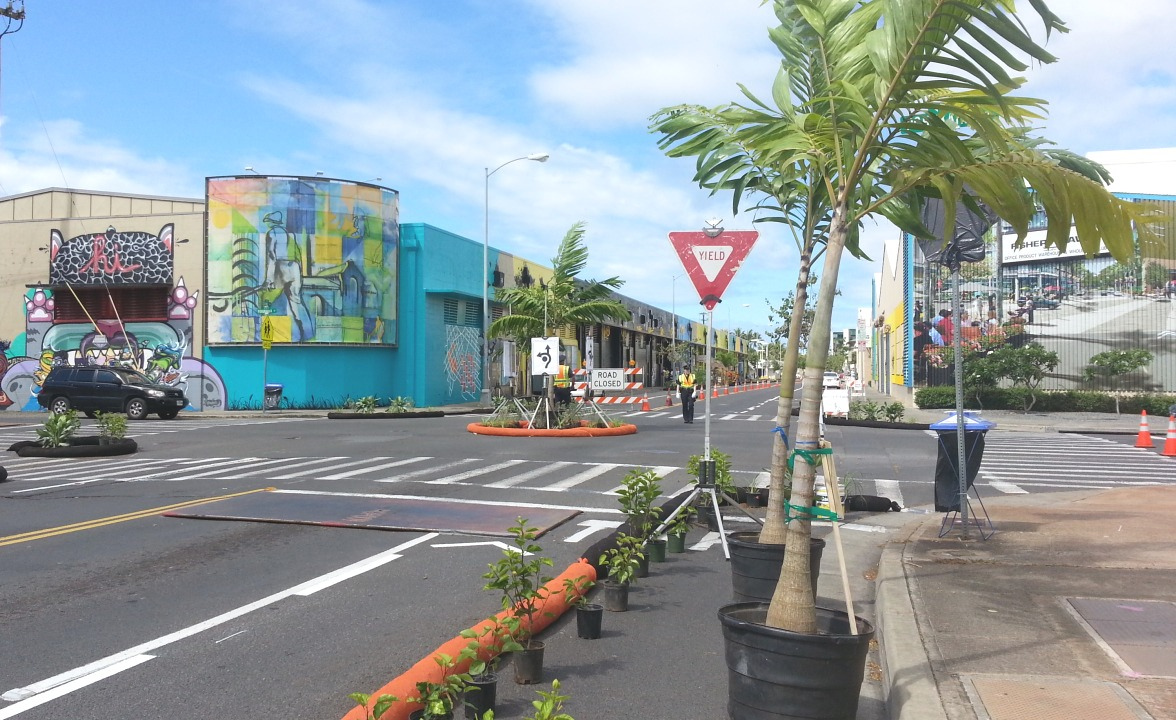 Sample the way a future street is envisioned for all to use