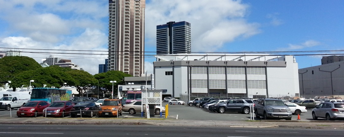 corner of Ward and Kapiolani -future location of Symphony