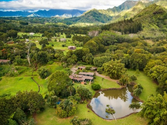Spectacular 27 Acre Retreat With Waterfall River Income Potential In Kapaa