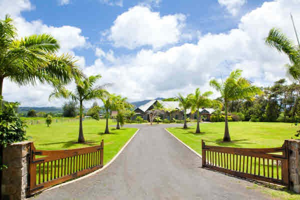Rare five bedroom north shore estate with pool barn on for Kauai life real estate