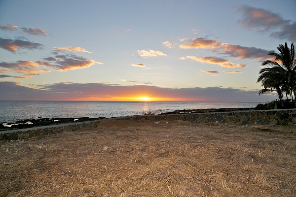 Sunset View from Makaha Vacant Lot for Sale