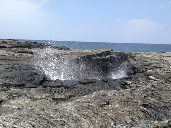 remote blowhole seen from the Ala Kahakai Trail