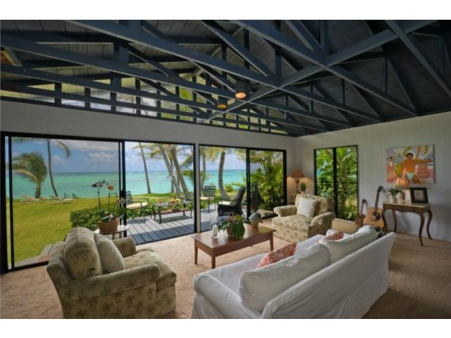 Mid-Century Beach House on Oahu\'s Waimanalo Beach - Hawaii Real ...