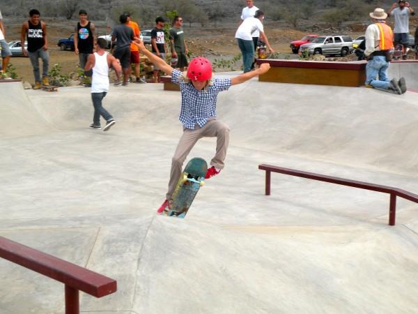 skateboarders at the new Kamakoa Nui Skatepark