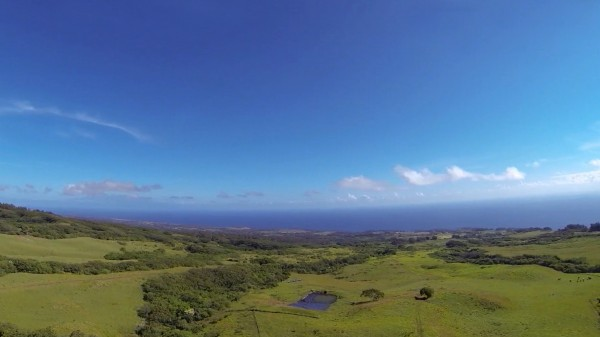 Aerial of cattle ranch for sale in North Kohala