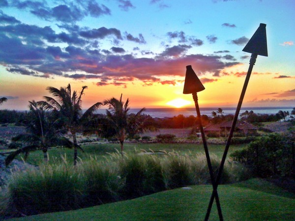 sunset photo from kaunaoa Annie Mendoza