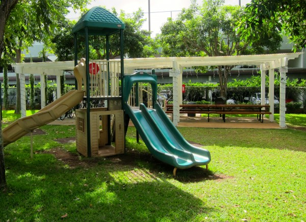 Playground & BBQ Area