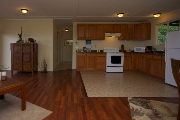 Kitchen-living area on upper home