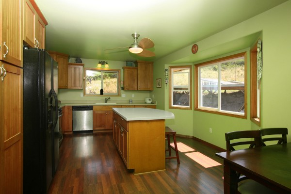 Kitchen of larger home.