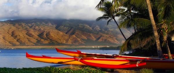 Canoes on Maui
