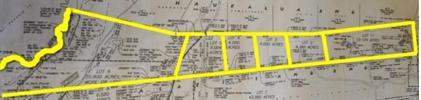 Site map Ala'e Subdivision