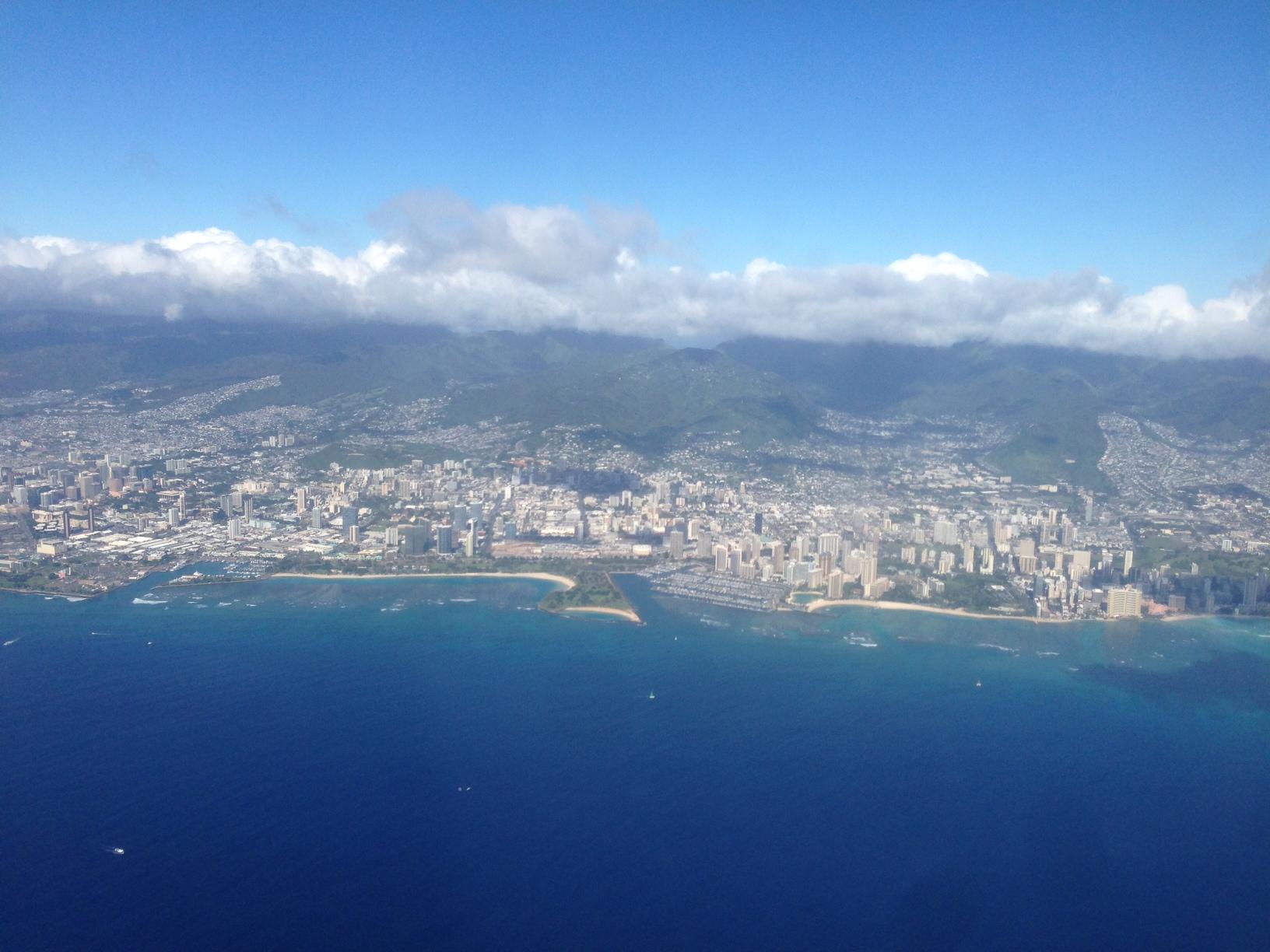 Aerial Shot Oahu: View of Kakaako and Waikiki