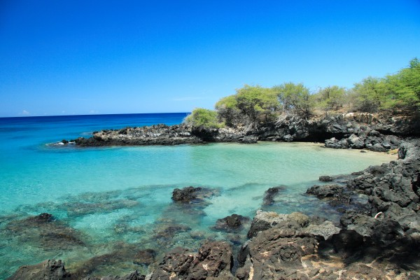 """""""The Cove"""" at the North-end of Hapuna Beach."""