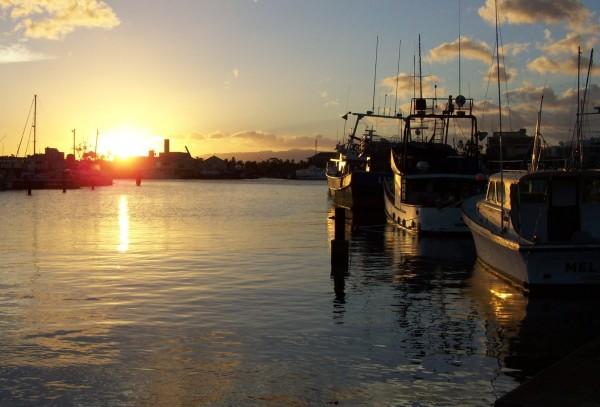 Kawalo Boat Harbor sunset
