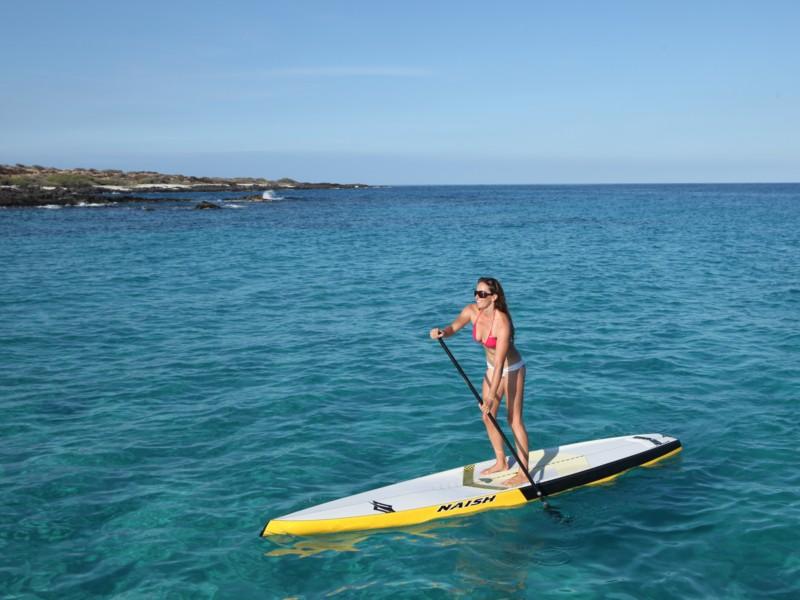 Jenny Kalmbach Paddling Kua Bay