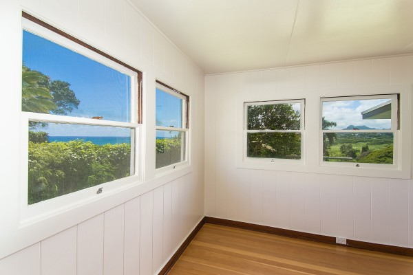 Ocean and Mountain views from the master bedroom