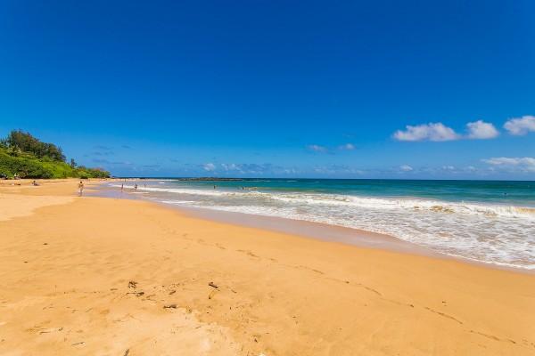Kauai's Kealia Beach. A 2 minute drive down the hill.