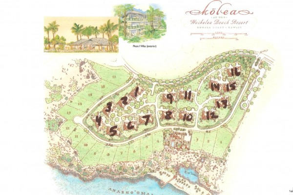 Kolea Site Map Waikoloa Beach Resort