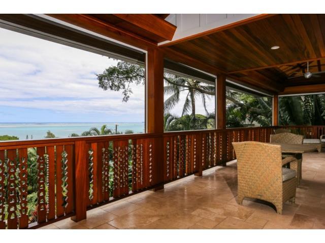 More Kaneohe Bay views from this spacious Lanai
