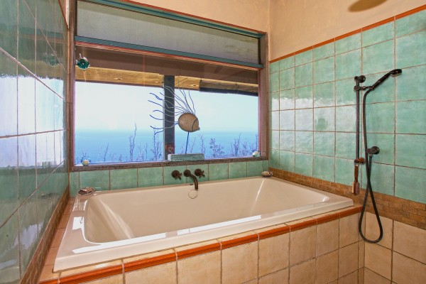 Master bath, views too!
