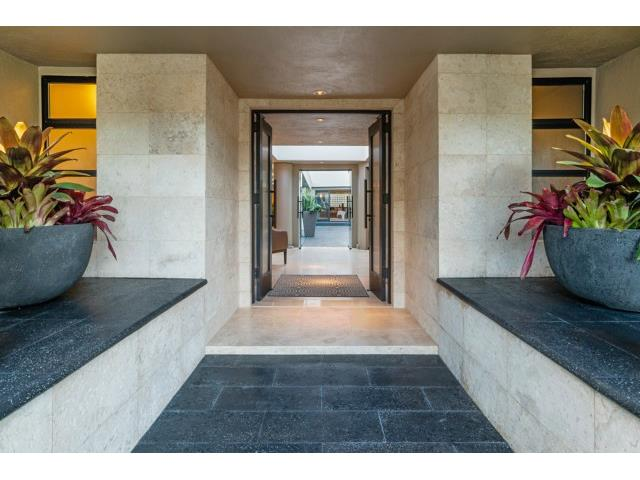 Dramatic Entry with Commercial Grade Double Doors, Coral and Lav