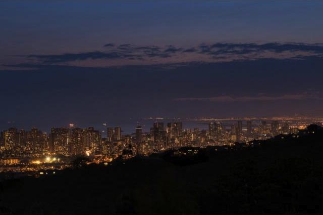 Honolulu City Lights from Waialae Nui Ridge