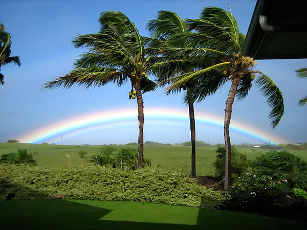 Rainbow from Puakea Ranch