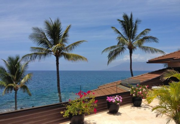 the ocean view from building F at the Makena Surf Resort