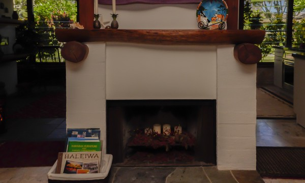 Ohia wood fire place