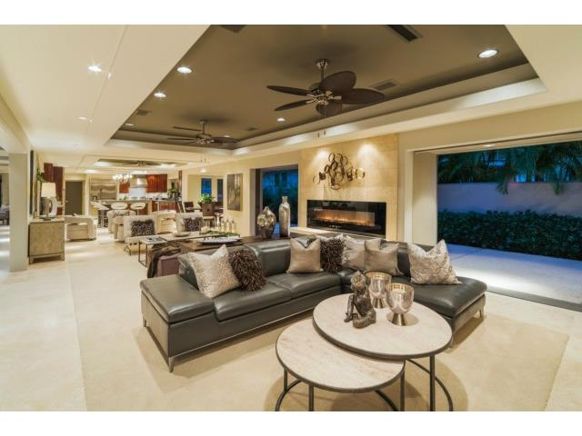 Great Room with designer furnishings. Brand New Carpet. Sliders