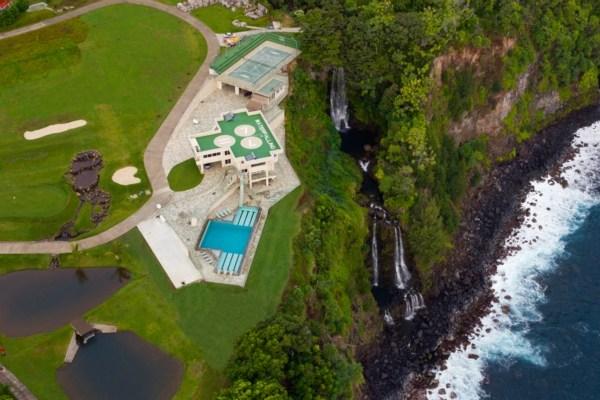 waterfalling estate Ninole Hawaii auction