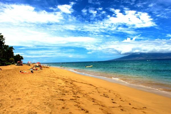Kaanapali Beach Towards Lanai