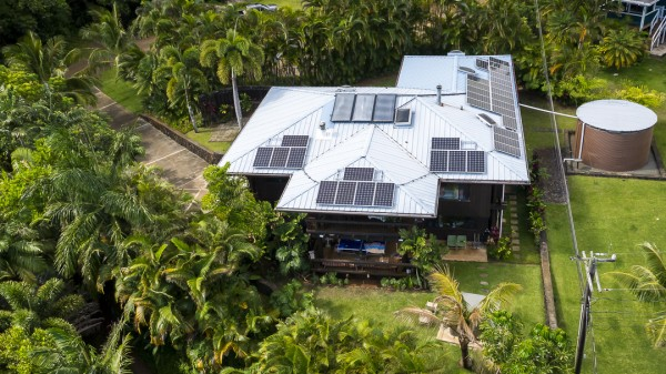 PV Panels and Water Tank