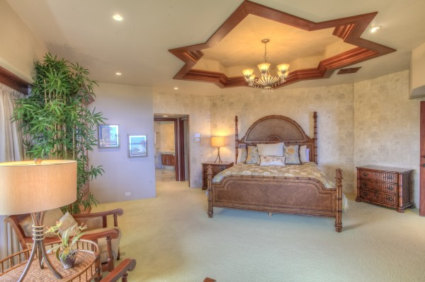 Master Suite with exquisite wood detailing