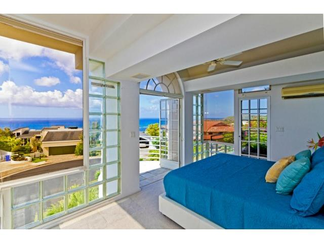 Master bedroom with private lanai and great views.