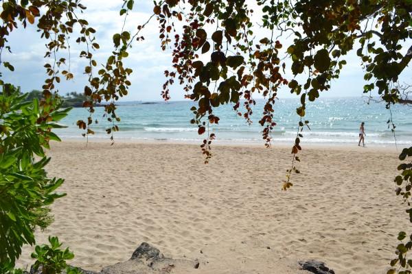 White, sandy beach @ Kauna'oa Bay