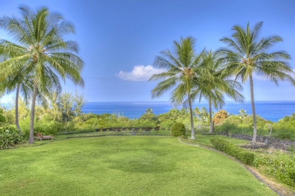 This is the reverse view from the first photo - Ocean view from the home, and the gorgeous grounds