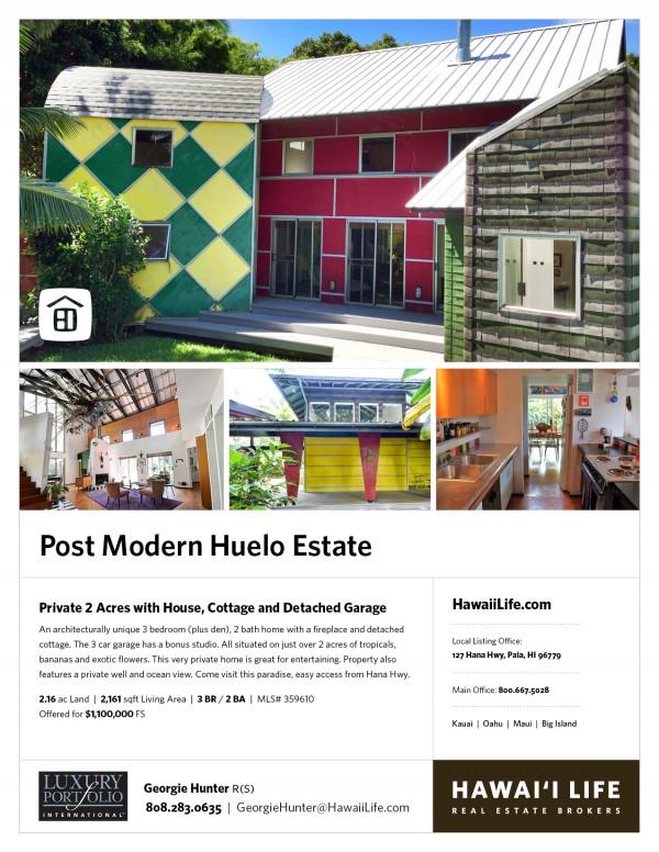 216 Door of Faith Rd. - Haiku Maui house and cottage on 2 acres for sale