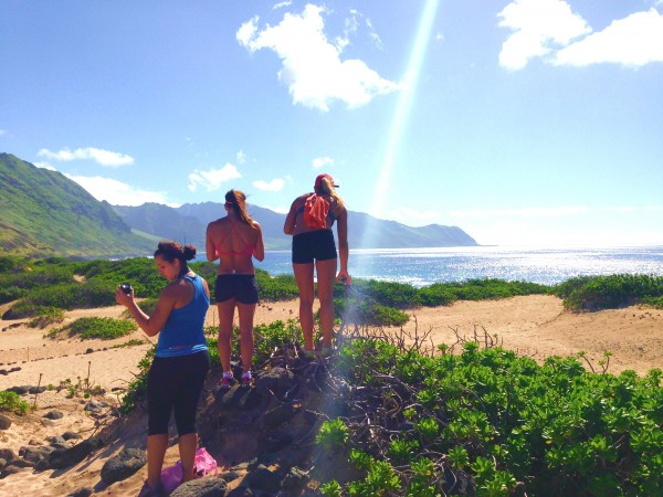 Looking over to the Waianae side.