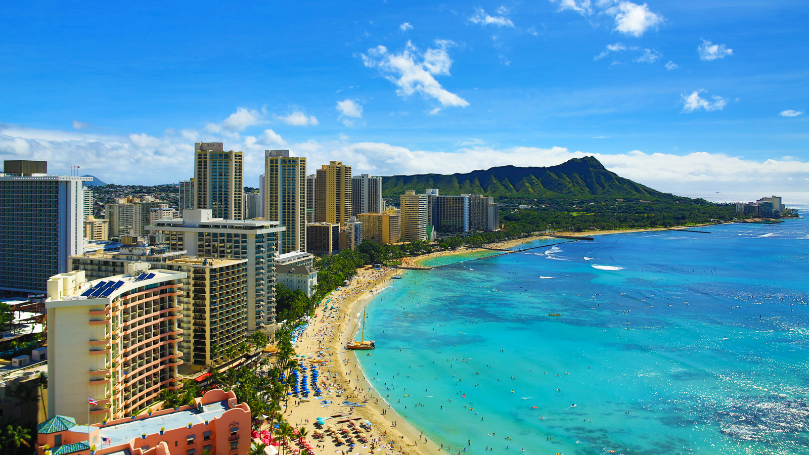 Waikiki Beach Is Famous For Its Turquoise Waters Great Surfing And Even Better Watching