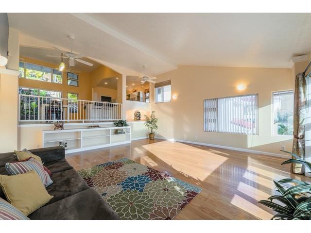 High ceilings, oak hardwood floors, plenty of windows, ceiling f
