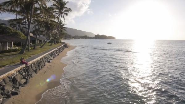 Beach fronting Mokuleia Beach Colony