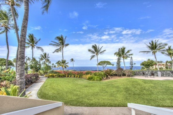 Nice pathway around property with ocean view